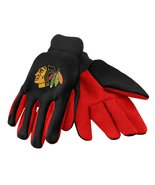 NHL fan sport utility work gloves (Chicago Blackhawks Black/Red) - $8.95
