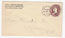 DEXTER BROTHERS BOSTON MASS APRIL 29 1888 - $2.98