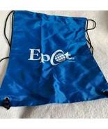 Walt Disney World Theme Parks Epcot Drawstring Bag Backpack Blue - $18.46