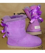 UGG Australia Purple Bailey Bow Boots Youth Size 5Y, Women's 7 NEW #3280 Y - £69.98 GBP