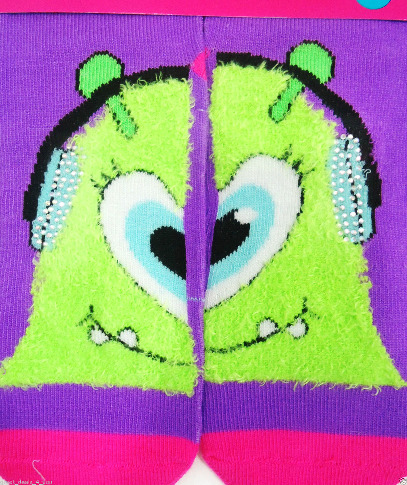 Justice Girls Size 5-6 Cat Fleece Lined Tights New With Tags