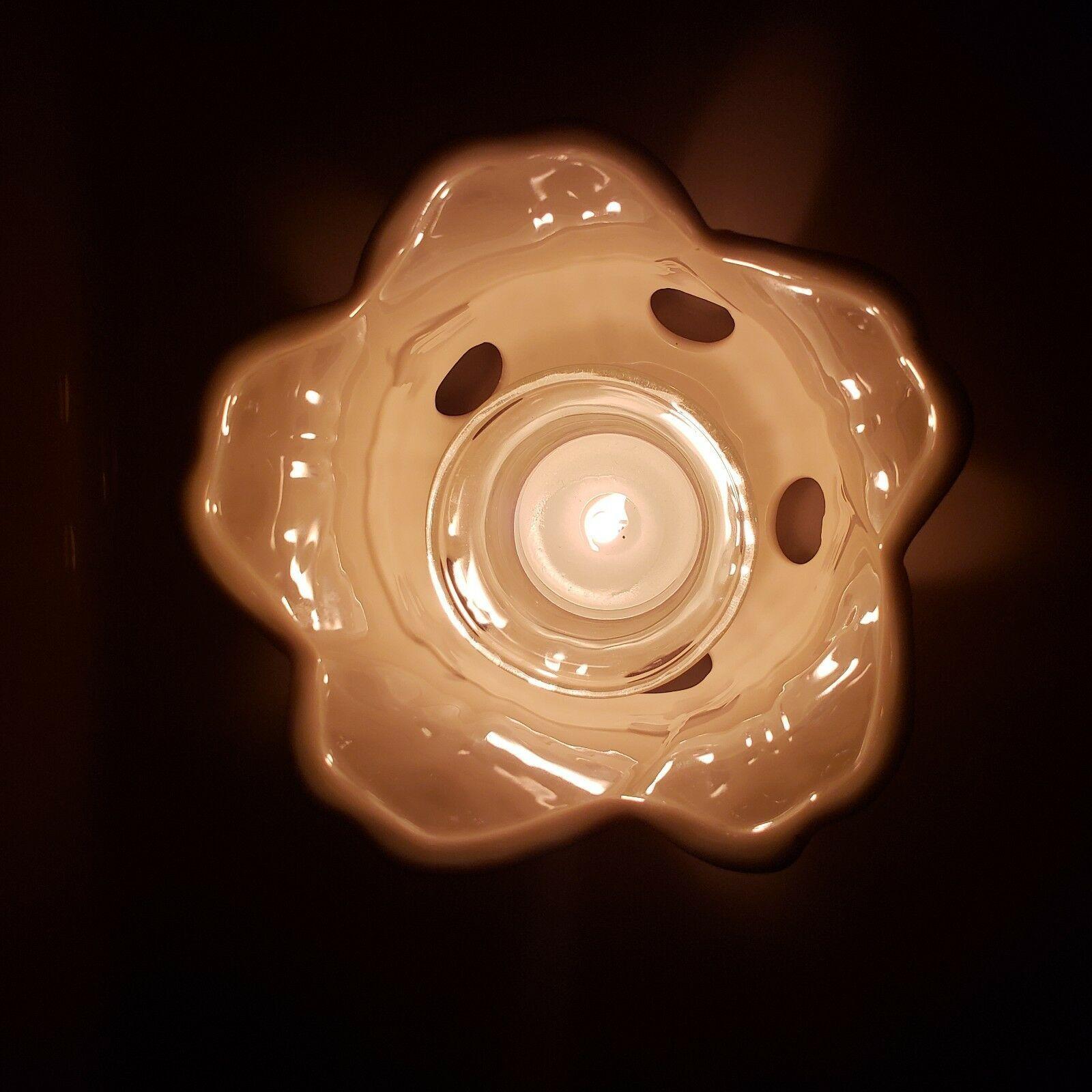 Spring Flower Candle Holder for Votive Tealight Partylite Petal Light P0246 VTG