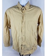 American Eagle Outfitters Mens Button Front Shirt Sz M Med Yellow Striped - $9.15