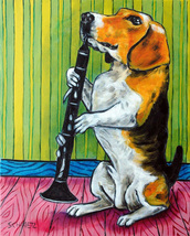 animal Art oil painting printed on canvas home decor beagle dog  - $12.99+