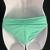 L Space Monique Side Back Ruched Bikini Bottoms Green Blue Hipster Womens L image 4