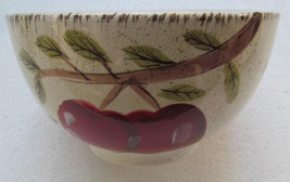 Apple Harvest Soup/Cereal Bowl by Canterbury Potteries Handpainted Collection - $14.99