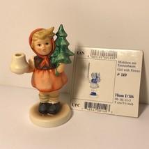 MI HUMMEL CLUB FIGURINE WEST GERMANY GOEBEL TMK-7 GIRL FIRTREE CANDLE HO... - $74.25