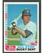 New York Yankees Buck Dent All Star 1982 Topps Baseball Card #550 nr mt - $0.50
