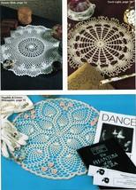 16 One Day Oval Peach & Cream Pineapple Alaskan Spiderweb Doily Crochet Pattern - $12.99