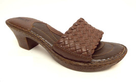 BORN Size 9 Brown Leather Slide Sandals Shoes 40.5 - $35.20