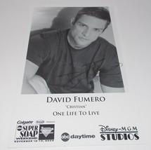 David Fumero Autograph Reprint Photo 9x6 One Life to Live 2005 Power - $9.99