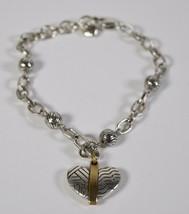 Brighton Acoma Heart Bracelet Silver Gold Tone New - $29.70