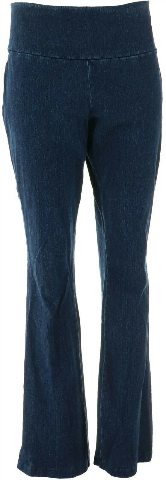 Primary image for Women with Control Prime Stretch Denim Low Bell Jeans Indigo 2X NEW A342060