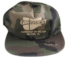 Car Quest of Milton, FL Camo Baseball Trucker Hat Snap Back Mesh Back - ... - $3.99