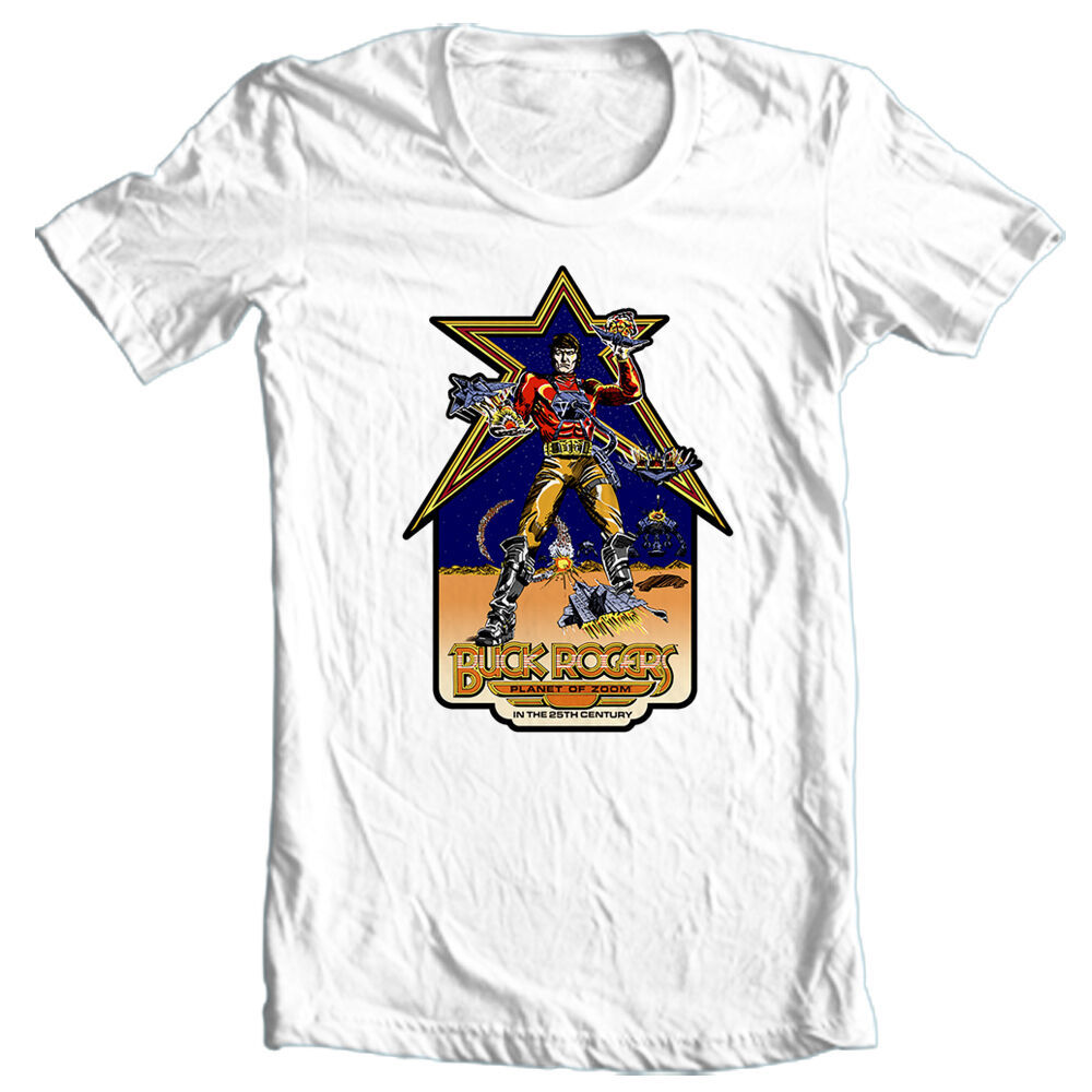 Buck Rogers Planet of Zoom t-shirt vintage retro arcade video game free shipping