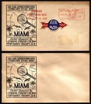 Air Mail Appreciation Week 1950 MIAMI Stamp Club Mailomat Stationery Use... - $3.19