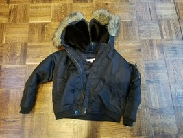 Girls Juicy Jacket Size 10 With Fur Around The Hood - $48.38
