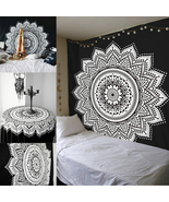 Indian Ethnic Dorm Decor Mandala Tapestry Bohemian Bedspread Decorations - $17.75