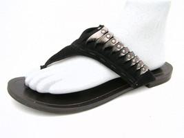 Nine West Vintage America Women's 7½M Flip Flop Sandals Black Leather Ex... - €16,29 EUR