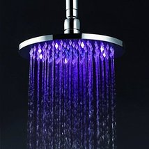 8 inch Brass Shower Head with Color Changing LED Light - $107.30