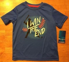 NWT Champion Authentic Boy's Blue Short Sleeve Dri-Fit Athletic Shirt - ... - $8.90