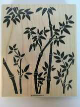 """Stampin Up Bamboo Background Mounted Stamp Jungle Plant Card Making Art 2000 6"""" - $13.50"""