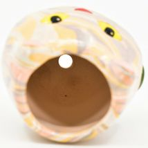 Handmade Ceramic Swirl Small Cactus Succulent Mini Plant Cat Shaped Planter Pot image 5