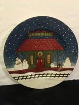 Warren-Kimble-Plate-Home-For-The-Holidays-Sakura-Oneida-Salad-Dessert - $7.43