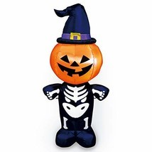 Joiedomi Halloween Inflatable Blow Up Pumpkin Skeleton with a Witch Hat ... - €30,85 EUR