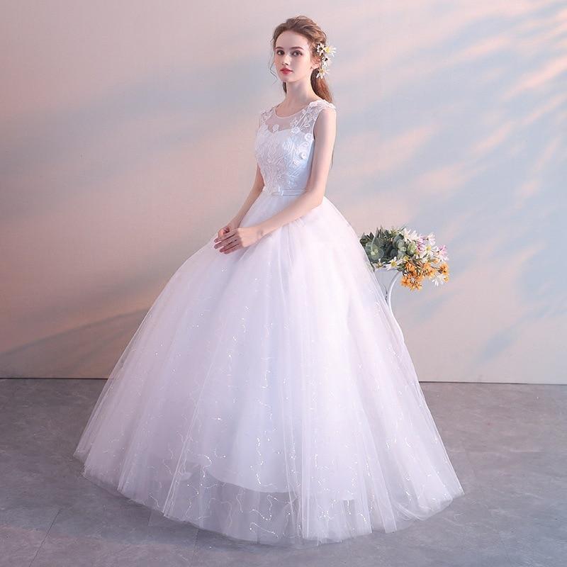 Hite red wedding dress bride married floor length princess simple pregnant women high waist plus