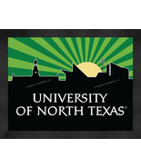University of North Texas 13 x 16 Uscape with Retro Skyline Framed Print  - $39.95