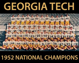 1952 Georgia Tech 8X10 Team Photo Yellow Jackets Picture Ncaa Football Champs - $3.95