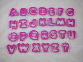 Alphabet Letters Plastic Cookie Cutters Molds Jello Jigglers Playdough P... - $7.84