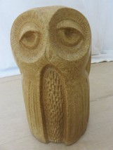 "Vintage 70s Large Clay Ceramic Owl Figurine Statue Home Decor 9 1/2"" Tall - $48.51"