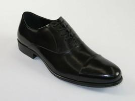Mens Kenneth Cole Shoes Chief Council Leather Cap toe Oxford Black KM45224LE  - $104.99