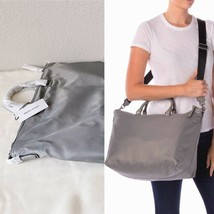 ✨New Rebecca Minkoff Mott Nylon Large Tote Weekender Bag Grey $198 Nwt - $88.65