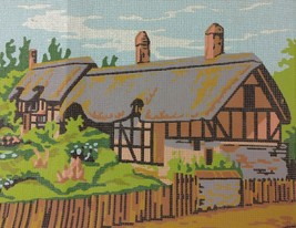 Cottage Needlepoint Kit Twilleys of Stamford Thatched Roof Wool UK Anne ... - $27.95