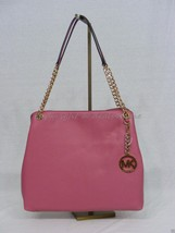 NWT! MICHAEL Michael Kors Jet Set Large Pebbled Soft Leather Tote in Tul... - $189.00
