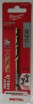 Milwaukee 48-89-4813 Metric 5.5 Mm Shockwave Titanium Red Helix Drill Bit - $3.22