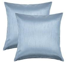 Aiking Home 18x18 Inches Faux Silk Square Throw Pillow Cover, Zipper Clo... - $18.76