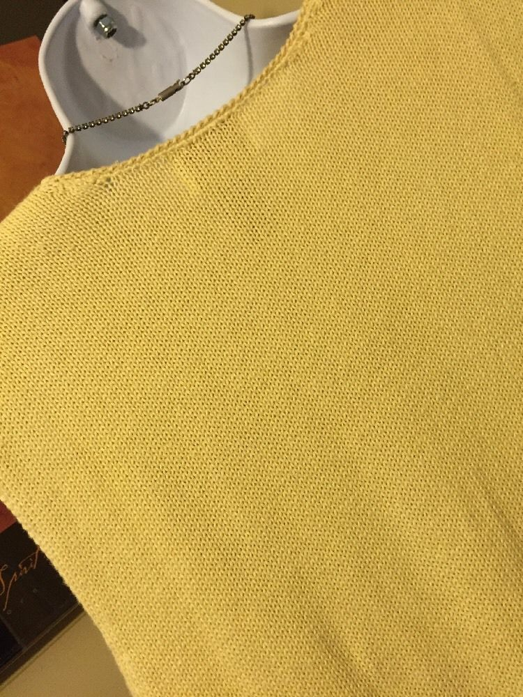 Napa Studio Yellow Cotton Blend Embroidered Sweater Vest Size S New With Tags image 3