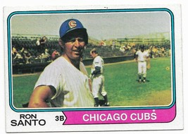 1974 Topps #270 Ron Santo, Chicago Cubs HOF - $2.65