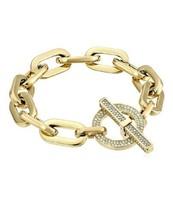 Michael Kors City Scape Heavy Link Chain Pave Toggle Bracelet MKJ4586710... - $66.49