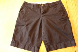 W9923 Womens OLD NAVY  Black Stretch Cotton Perfect BERMUDA SHORTS Khakis 6 - $13.55