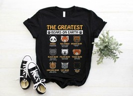 The Greatest Bears On Earth Type Of Bears Funny Vintage Short-sleeves T ... - $15.79+