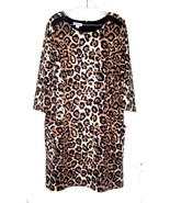 Sz XL - NWT$40 Jaclyn Smith Leopard Cheetah Cat Animal Print Dress - $28.51