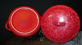 Red W.M.G. Ceramic Double Handle Serving Dish with Lid AA20-2128 Vintage image 4