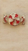 Nnt Tiny Authentic Origami Owl Christmas Candy Piece Red White Floating Charm - $4.94