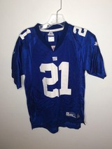 Reebok NFL New York Giants 21 Tiki Barber Football Jersey Blue Youth Large 14-16 image 1