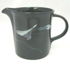 Mikasa Opus Black Galleria Creamer FK701 Made Japan Dishwasher Safe Art Deco - $15.43